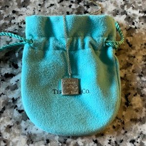 Tiffany and Co cube necklace